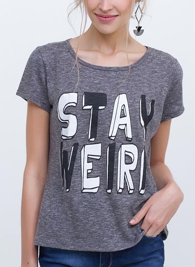 T-Shirt Camisetão Stay Weird