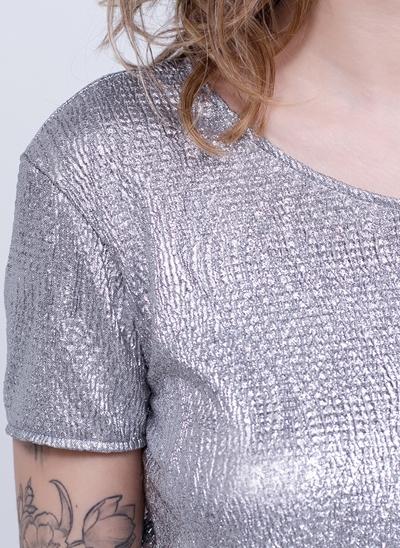 Blusa Cropped Metalizada