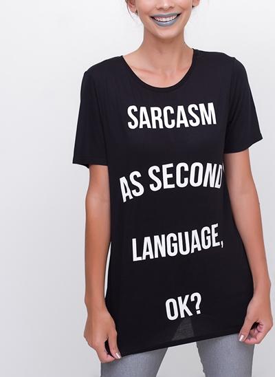T-Shirt Alongada Sarcasm