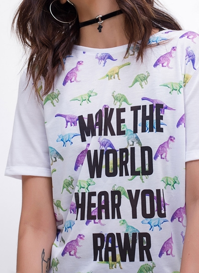 T-Shirt Alongada DINO
