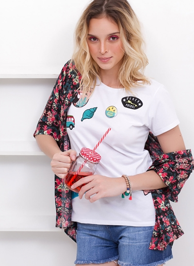 Blusa Mermaid com Patches