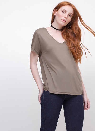 Blusa com Decote V