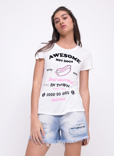 Blusa Hot Dogs