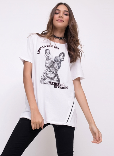 Blusa Alongada Dog