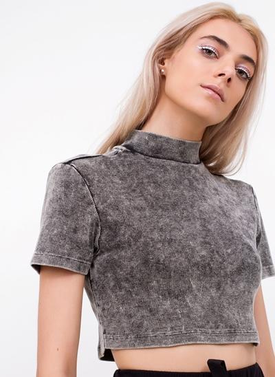 Blusa Cropped Marmorizado