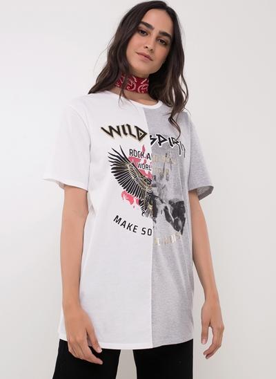 Blusa Alongada Wild Spirit