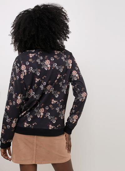 Blusão Moletom Floral