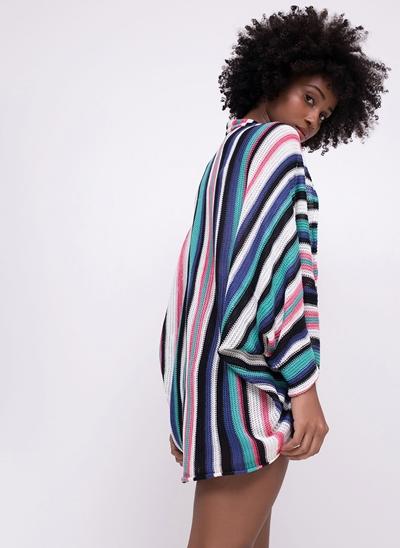 Kimono Alongado Listrado Peruano