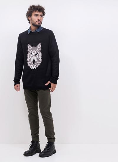 Blusão Retilínea Lobo