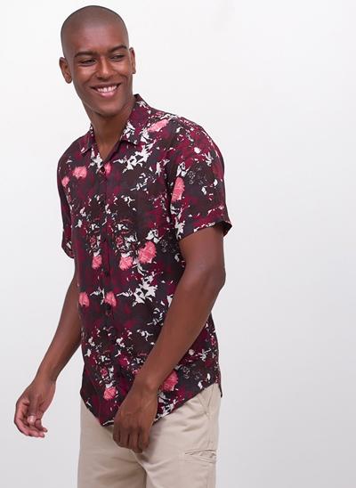Camisa Floral em Viscose