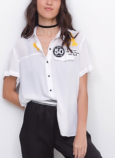 Camisa Smile com Patches