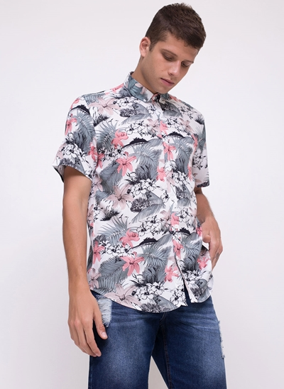Camisa Regular Floral