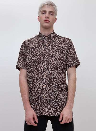 Camisa Regular Animal Print