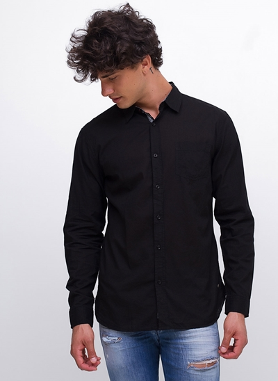 Camisa Manga Longa Estampada Interna