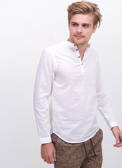 Camisa Bata Manga Longa