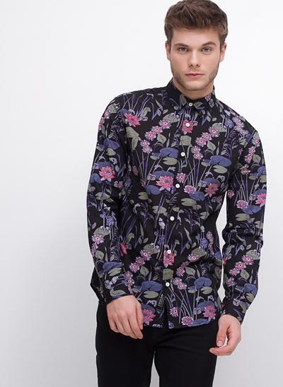 Camisa Slim Floral