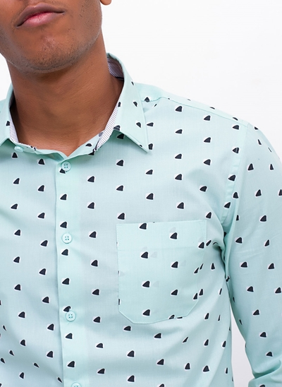 Camisa Estampada Abstract
