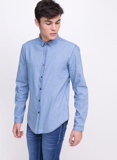 Camisa Slim em Poá