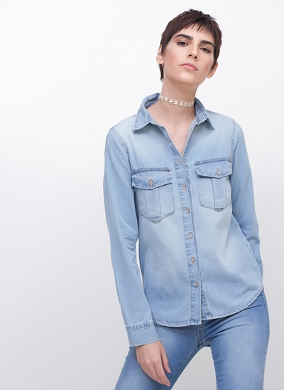 Camisa Jeans Regular