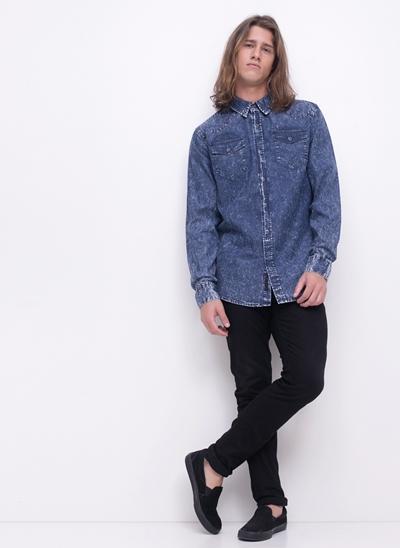 Camisa Jeans Western Delavê