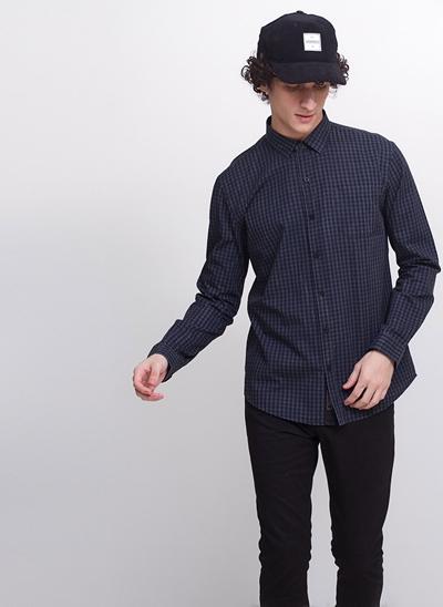 Camisa Regular Manga Longa Xadrez