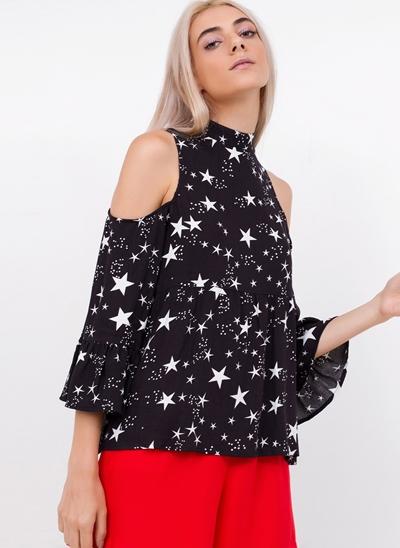 Blusa Stars com Ombros de Fora