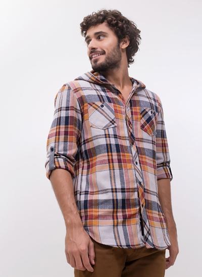 Camisa Flanela com Capuz
