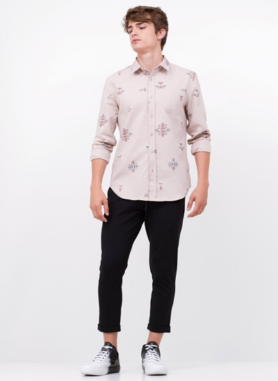 Camisa Regular Jacquard