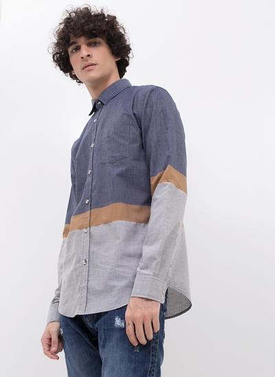 Camisa em Linho com Recorte