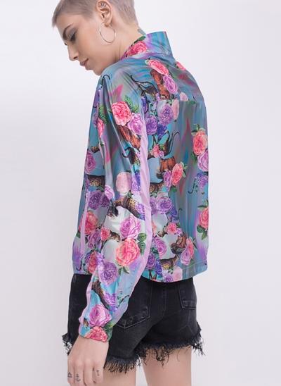 Jaqueta Quebra Vento Floral