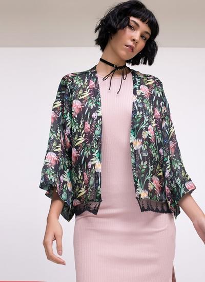 Kimono Curto Floral