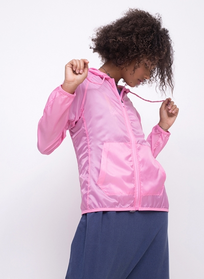 Jaqueta Transparente com Capuz
