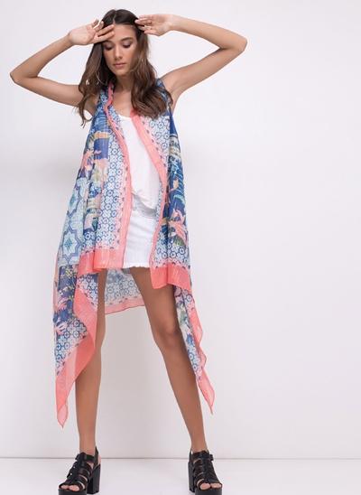 Kimono Alongado Floral