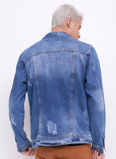 Jaqueta Jeans com Puídos