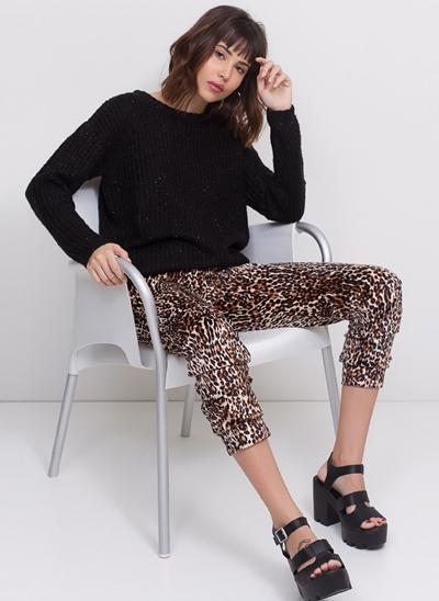 Calça Pijama Animal em Plush