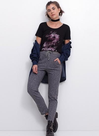 Calça Pijama Moletom com Cordão