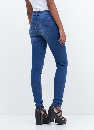 Calça Cigarrete em Jeans
