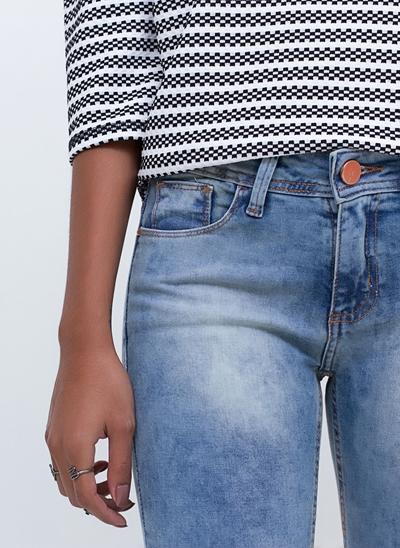 Calça Super Skinny Cintura Baixa