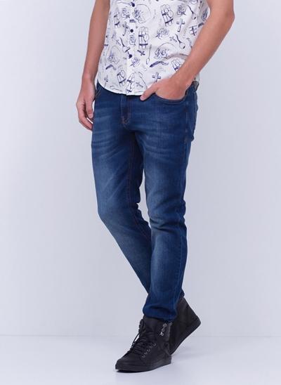 Calça Skinny Pepper em Jeans Used