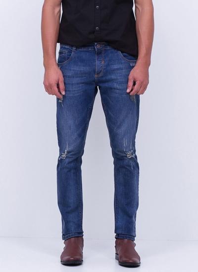 Calça Skinny Jeans Destroyed