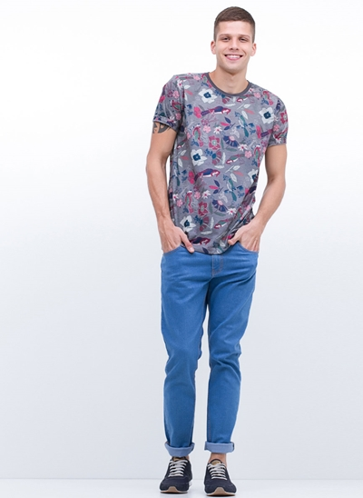 Calça Skinny em Jeans Blue