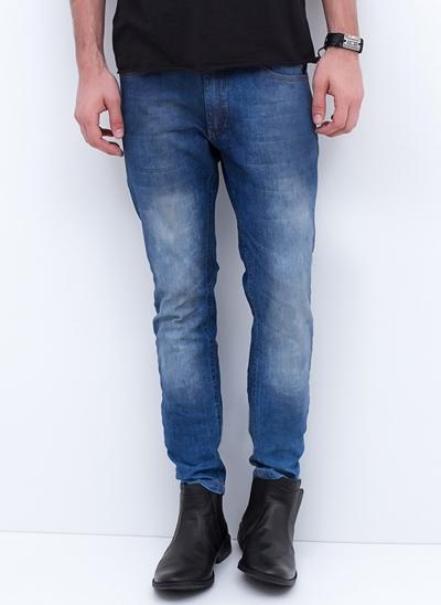 Calça Skinny em Jeans Used