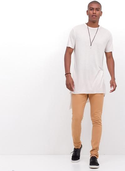 Calça Skinny em Jeans Color