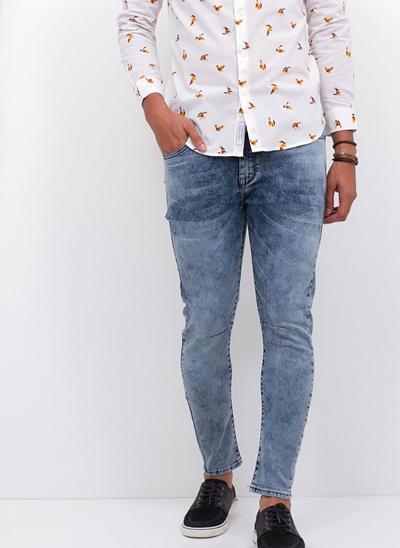 Calça Carrot em Jeans Blue