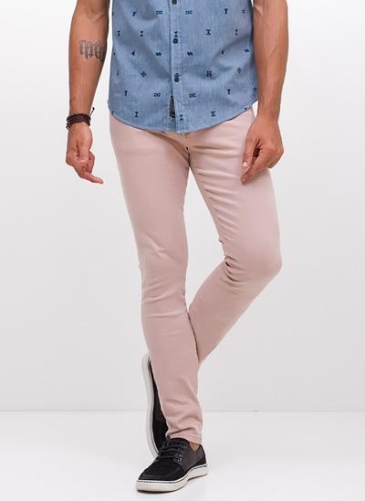 Calça Skinny Color em Sarja