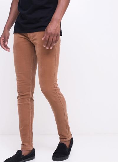 Calça Skinny em Veludo