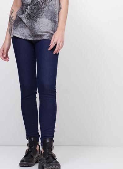 Calça Push Up Cintura Alta em Jeans