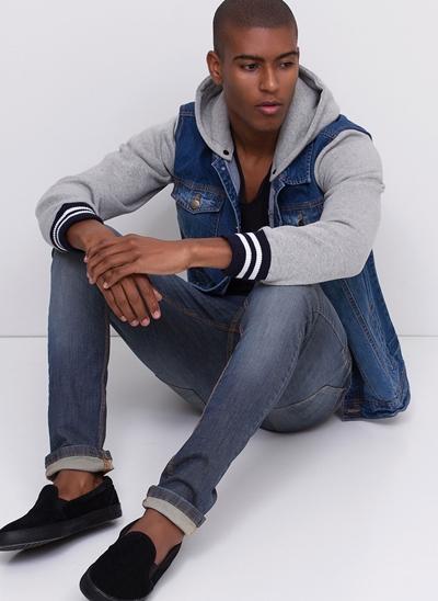 Calça Skinny em Jeans Dirty