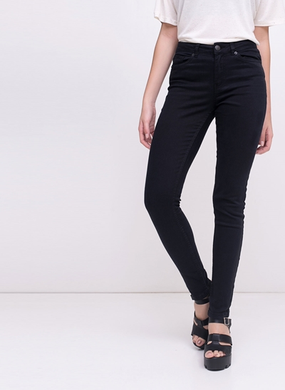 Calça Skinny Cintura Média Black