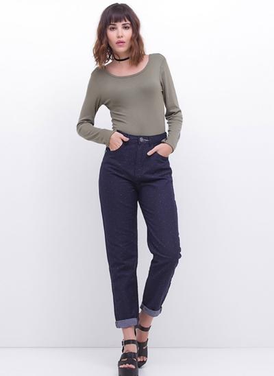 Calça Mom em Jeans ECO